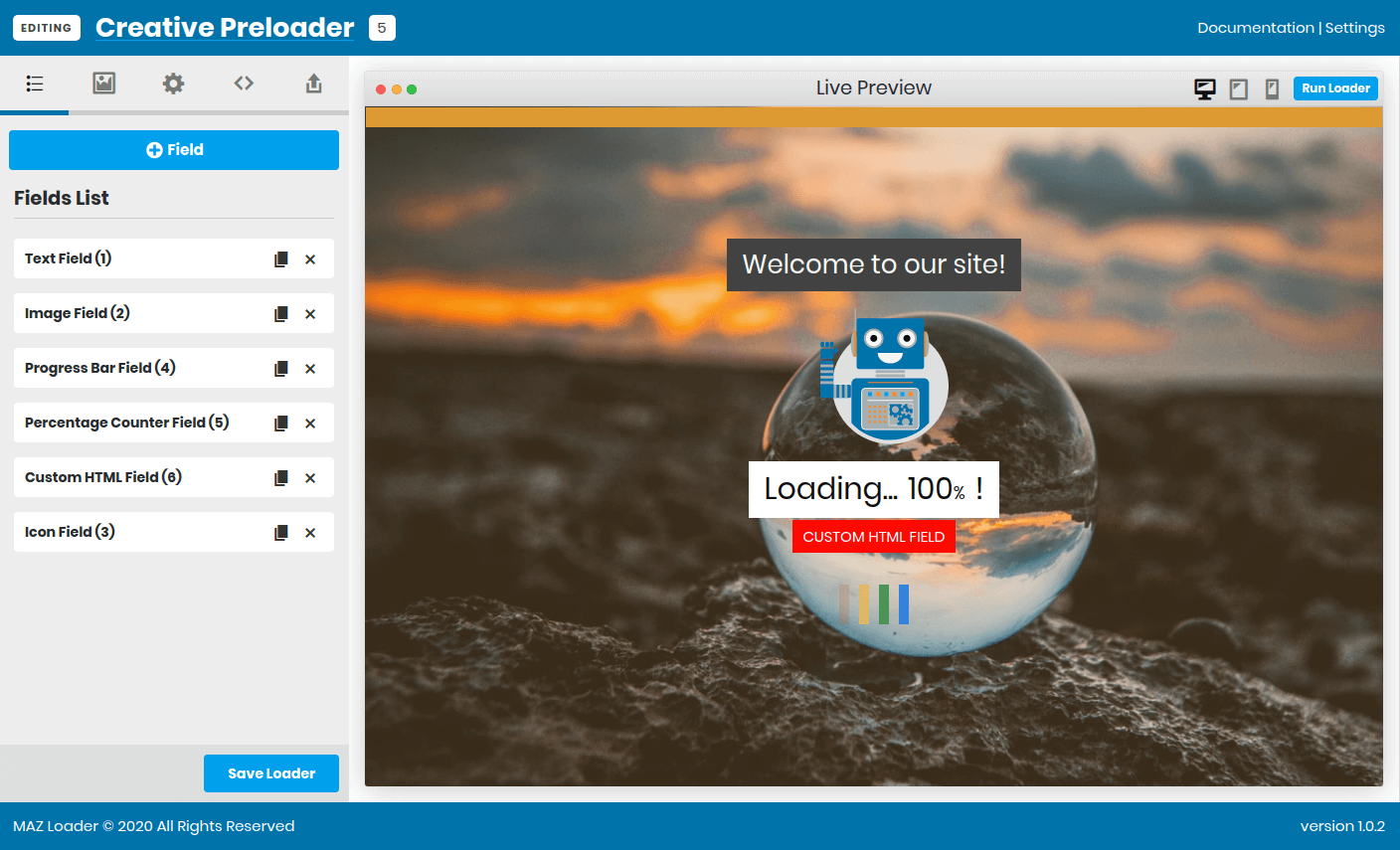 MAZ Loader WordPress Preloader
