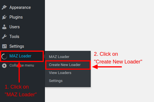 Create new WordPress Preloader - MAZ Loader
